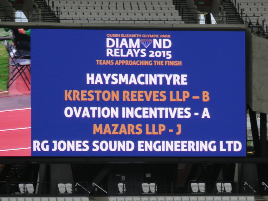 RG Jones Team Up for the first Diamond Relays at The Olympic Stadium