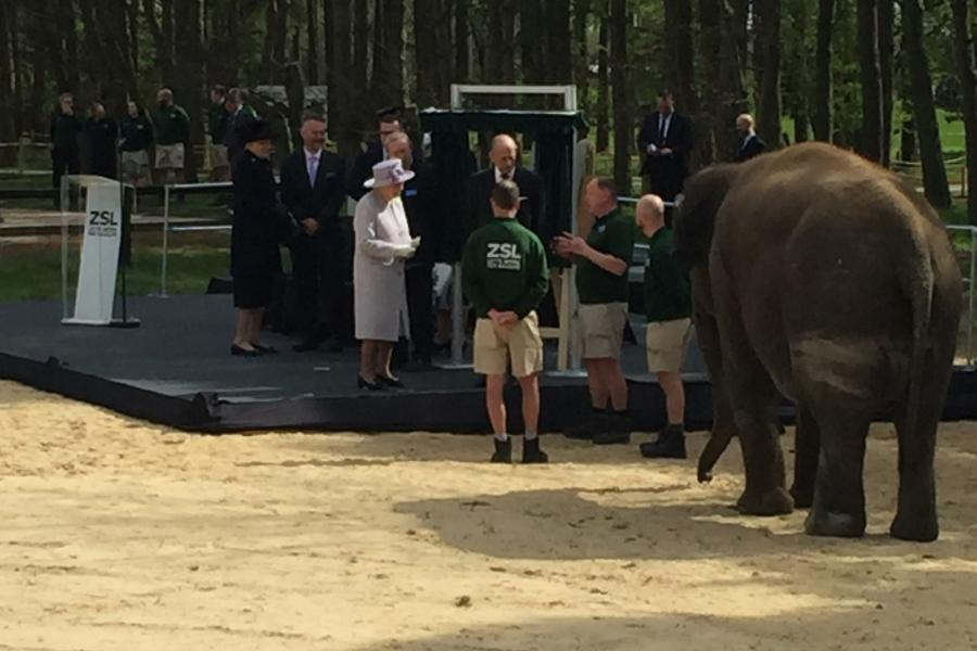 RG Jones at Whipsnade for Royal unveiling