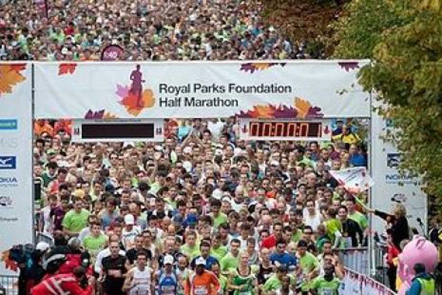 Running for QEST at Royal Parks Half Marathon