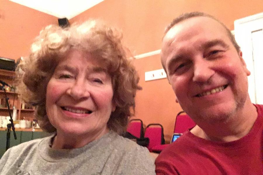 Simon Honywill is reunited with Shirley Collins