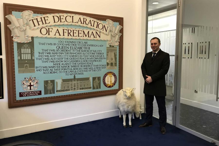 RG's Director becomes a Freeman of the City of London